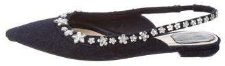 Christian Dior Embellished Pointed-Toe Flats