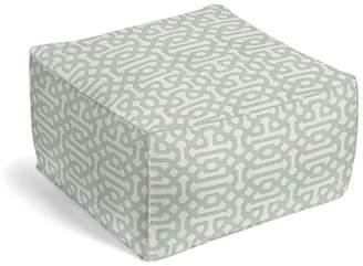 Loom Decor Square Pouf Sunbrella® Fretwork - Mist