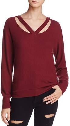 LnA Brushed Double Fallon Cutout Sweater
