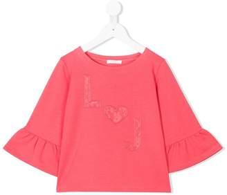 Liu Jo Kids lace-appliqué blouse