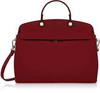 Furla Cherry Leather My Piper Medium Top Handle Satchel Bag