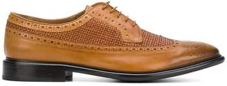 Paul Smith Budapester woven panel brogues