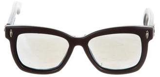 Italia Independent Oversize Mirrored Sunglasses