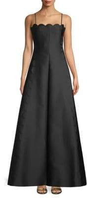 Valentino Scalloped Fit-And-Flare Gown