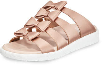 Laurence Dacade Rosabella Satin Bow Sneaker Sandals