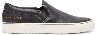 Common Projects - Leather Slip On Trainers - Womens - Black