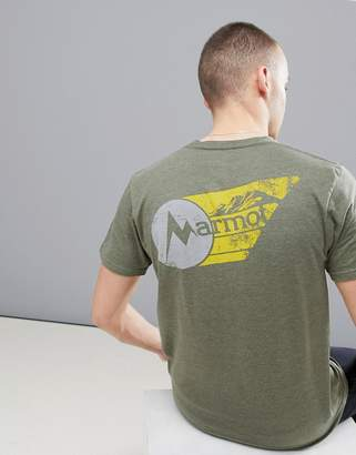 Marmot Marwing T-Shirt With Chest Logo in Olive Green