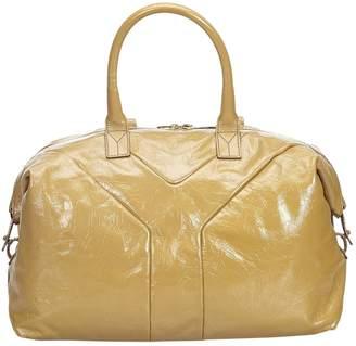 Saint Laurent Easy Brown Patent leather Handbag
