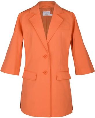 Blonde Gone Rogue Sustainable Long Blazer In Orange