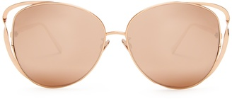 Rosarda cat-eye rose-gold plated sunglasses