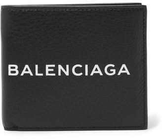 Balenciaga Printed Textured-Leather Billfold Wallet