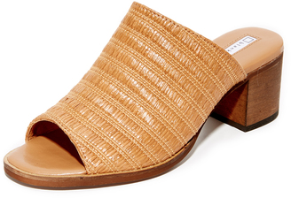 blank canvas Raffia City Mule Sandals $140 thestylecure.com