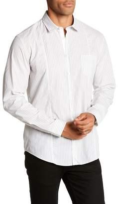 John Varvatos Collection Long Sleeve Stripe Print Slim Fit Shirt