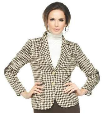 Joan Rivers Classics Collection Joan Rivers Classic Long Sleeve Houndstooth Blazer