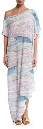 Mara Hoffman Wave Gauze Coverup Maxi Dress $275 thestylecure.com