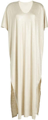 Majestic Maxi Dress with Linen and Silk