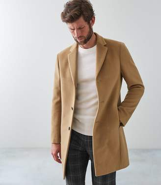 Reiss Our last order date for Christmas has now passed GABLE WOOL EPSOM OVERCOAT Camel