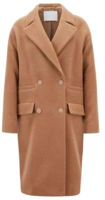 BOSS Hugo Oversized-fit coat in a wool cashmere 4 Brown