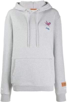 Heron Preston logo embroidered hoodie
