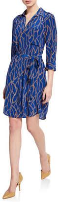 L'Agence Stella Short Printed Shirtdress