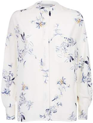 Vince Collarless Floral Blouse