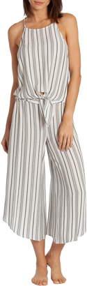 Midnight Bakery Jade Stripe Crop Pajamas