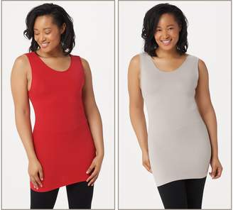 Skinnytees skinnytees Set of 2 Full Coverage Layering Tanks