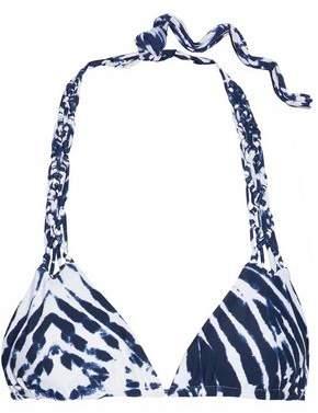 Mikoh Macramé-Trimmed Tie-Dye Bikini Top
