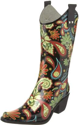 NOMAD Women's Yippy Rain Boot,Paisley Black