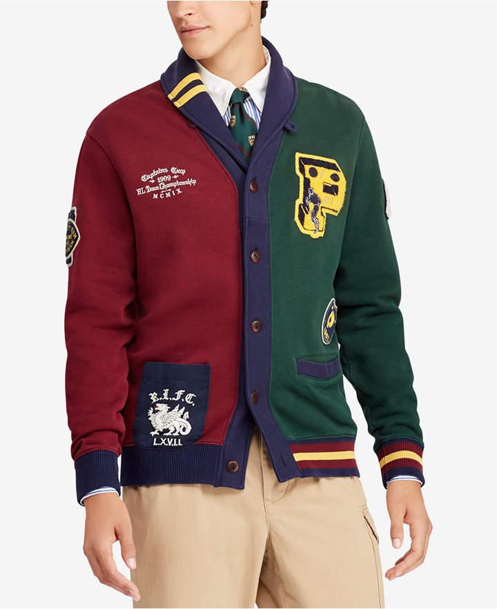 Polo Ralph Lauren Men's Big & Tall Colorblocked Fleece Cardigan