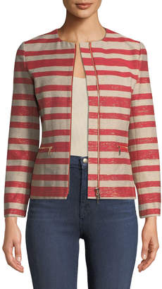 Lafayette 148 New York Kerrington Magna Striped Jacket