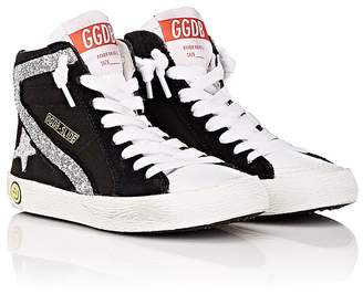 Golden Goose Kids' Slide Canvas & Leather Sneakers