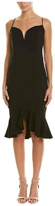 Issue New York Black Ruffle Sheath Mini
