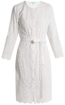 Melissa Odabash Cecilia Embroidered Collarless Shirtdress - Womens - White