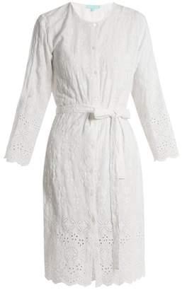 Melissa Odabash Cecilia Embroidered Collarless Shirtdress - Womens - White