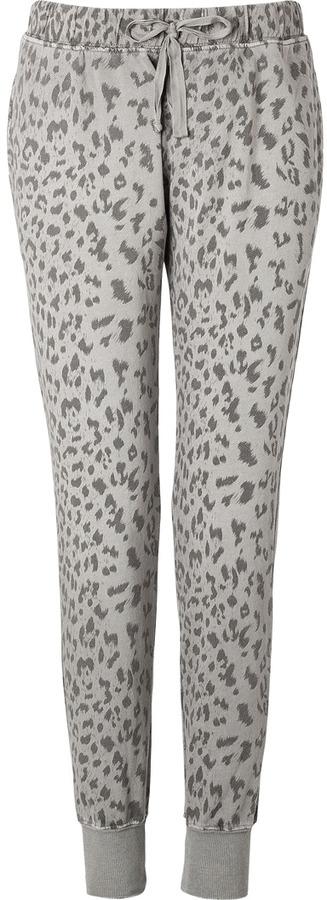Current/Elliott Cotton Sweatpants in Grey Leopard