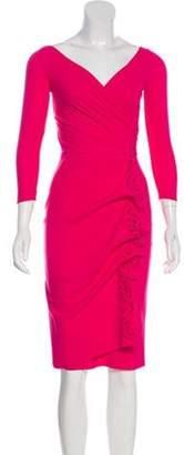 Chiara Boni Long Sleeve Evening Dress w/ Tags Pink Long Sleeve Evening Dress w/ Tags