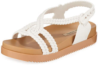 Melissa Shoes Cosmic Braided Ankle-Strap Jelly Sandals