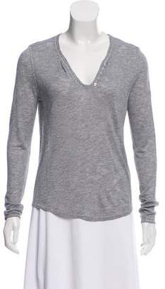 Zadig & Voltaire Skull Button-Accented Top