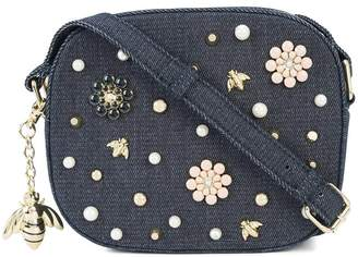 Christian Siriano floral embellished crossbody bag