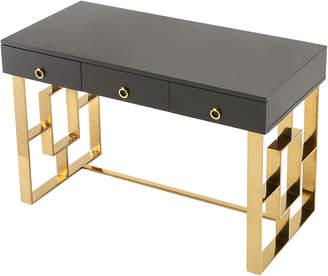 Tov Audrey Grey Lacquer Desk