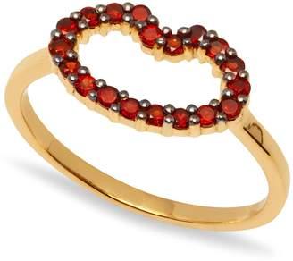 Lola Rose London - Mini Lips Ring Red Garnet