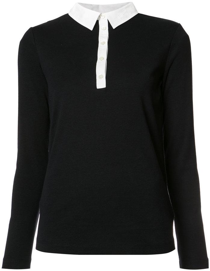BognerBogner contrasting collar polo shirt