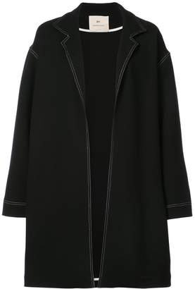 BY. Bonnie Young Oversized Contrast Stitch Coat