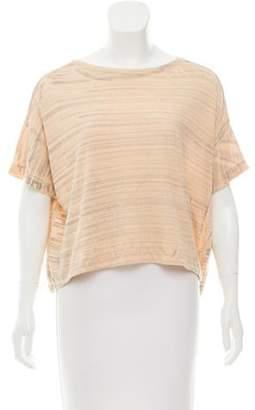 Raquel Allegra Distressed Tie-Dye T-Shirt
