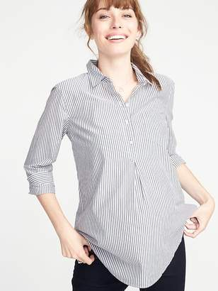 Old Navy Maternity Striped Popover Shirt