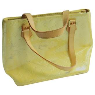 Louis Vuitton Vintage Houston Yellow Patent leather Handbag