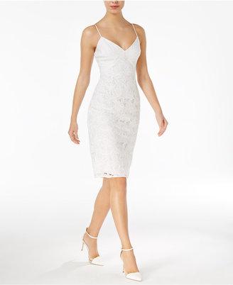 GUESS Jillian Lace Slip Dress $108 thestylecure.com