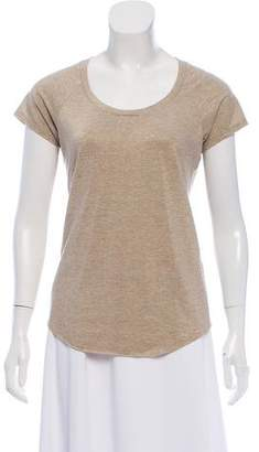 Amina Rubinacci Metallic Short Sleeve Top