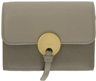 Chloé Grey Indy Trifold Wallet